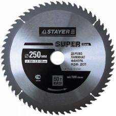 Диск пильный STAYER d: 250х30мм., 60Т MASTER SUPER LINE