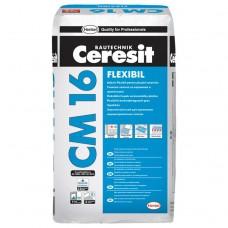 Клей для плитки эластичный Ceresit CM 16