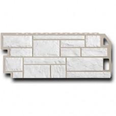 Сайдинг цокольный FineBer Камень Мелованный Белый