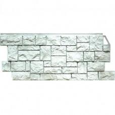 Панель фасадная FineBer Камень дикий 1117х46 жемчужный