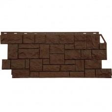 Панель фасадная FineBer Камень дикий 1117х46 коричневый