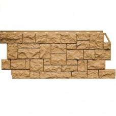 Панель фасадная FineBer Камень дикий 1117х46 песочный