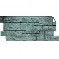 Панель фасадная FineBer Камень дикий 1117х46 серо-зелёный