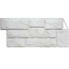 Панель фасадная FineBer Камень крупный 1080х452 мелованный белый