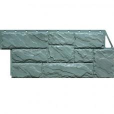 Панель фасадная FineBer Камень крупный 1080х452 серо-зелёный