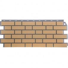 Панель фасадная FineBer Кирпич облицовочный 1130х463 жёлтый