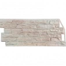 Панель фасадная FineBer Скала 1094х459 мелованный белый