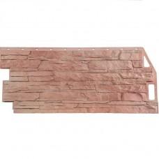 Панель фасадная FineBer Скала 1094х459 терракотовый
