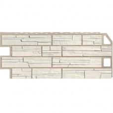 Панель фасадная FineBer Сланец 1137х470 мелованный белый